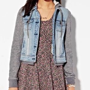 American Eagle Outfitters Denim Hooded Jacket